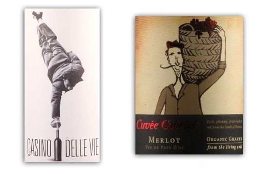 Casino-dell-Vie-and-Gabriel-Merlot-labels