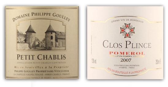 Petit-Chablis-and-Pomerol-labels