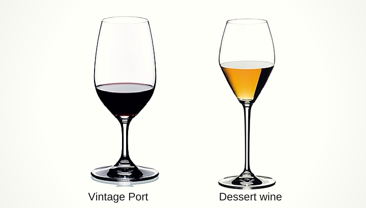 Types of Dessert and Fortified Wine Glasses