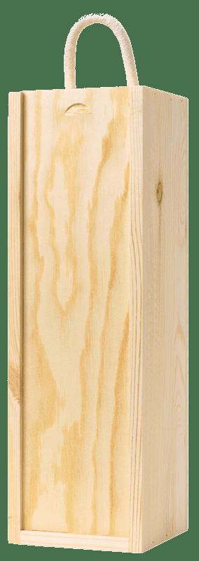 Single bottle wooden gift box