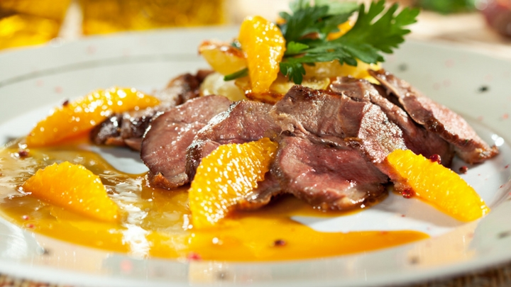 Duck a l'Orange and wine pairing