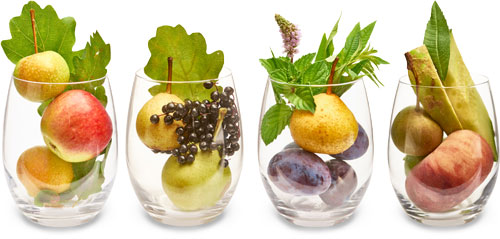 Fruit in glasses