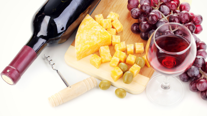 port wine and cheese