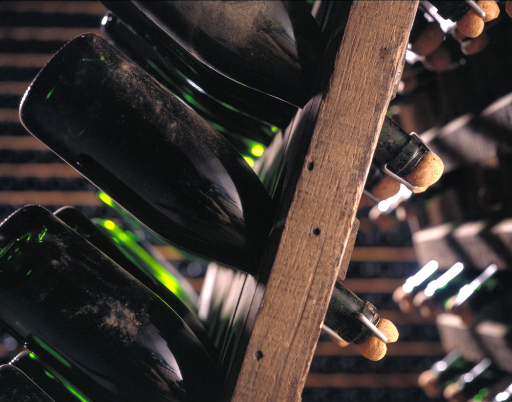 Organic Champagne being stored