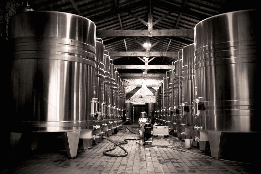 large wine vats