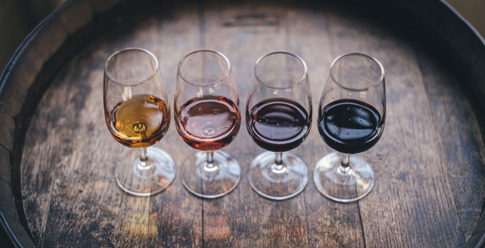 Four glasses of Sherry