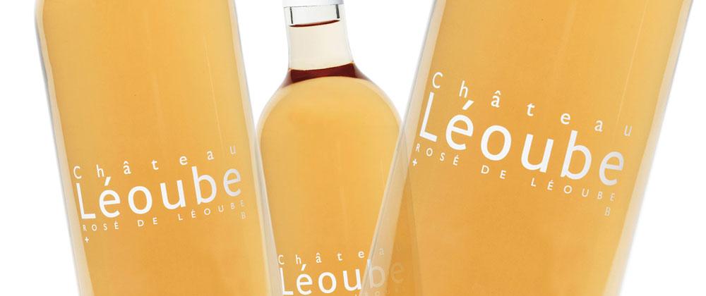 Bottles of Léoube Provence organic rose