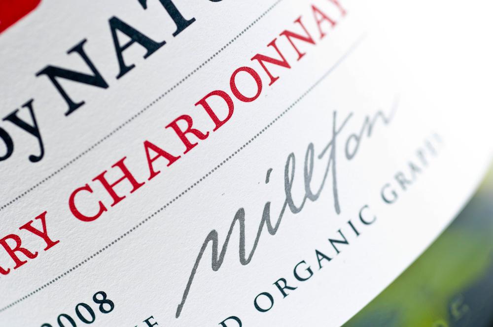 Organic Chardonnay Wine Label